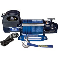 Superwinch 12 Volt DC Powered Electric Truck Winch with Remote — 12,500-Lb. Capacity, Synthetic Rope, Model# 1612201