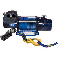 Superwinch 12 Volt DC Powered Electric Truck Winch with Remote — 14,000-Lb. Capacity, Synthetic Rope, Model# 1614201