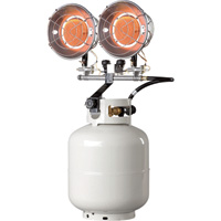 Mr. Heater Tank-Top Propane Heater — Double Burner, 30,000 BTU, Model# SRC30T