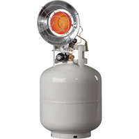 Mr. Heater Tank-Top Propane Heater — Single Burner, 15,000 BTU, Electronic Ignition, Model# MH15TS