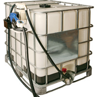 LiquiDynamics DEF IBC Tote System — Electric, Bottom-Feed, Stainless Steel Nozzle, Model# 970020-12A