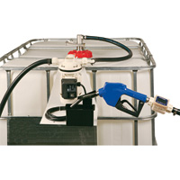 LiquiDynamics DEF IBC Tote System — Electric, Top-Feed, Stainless Steel Nozzle, Model# 970027-06A