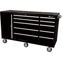 Montezuma 72in. 10-Drawer Tool Cart with Bulk Storage Area, Model# EL7210TC