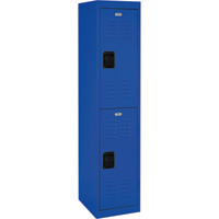 Sandusky Lee Welded Steel Storage Locker — Double Tier, 15in.W x 18in.D x 66in.H