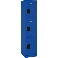 Sandusky Lee Welded Steel Storage Locker — Triple Tier, 15in.W x 18in.D x 66in.H