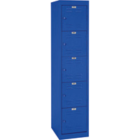 Sandusky Lee Welded Steel Storage Locker — 5 Tier, 15in.W x 18in.D x 66in.H