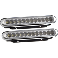 Optronics 12 LED Thinline Vehicle Light Kit – White, Pair, Model# LS108