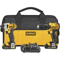FREE SHIPPING — DEWALT 20 Volt Max Li-Ion 1/2in. Cordless Compact Drill/Driver & 1/4in. Impact Driver Combo Kit — With 2 Batteries, Model# DCK280C2