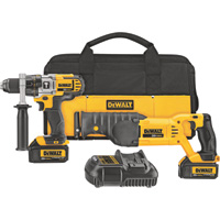FREE SHIPPING — DEWALT 20 Volt Max Li-Ion Cordless 1/2in. Hammerdrill & Reciprocating Saw Combo Kit — With 2 Batteries, Model# DCK292L2