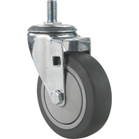 Fairbanks Thermoplastic Rubber Swivel Caster — 275-Lb. Capacity, 4in., Model# S11-03-4TPR