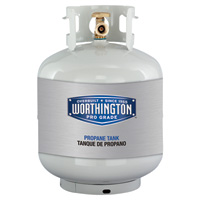 Worthington Cylinders Propane Tank with OPD Valve and Sight Gauge — 20 Lbs.