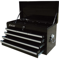 Excel 26in. 6-Drawer Tool Chest — 26in.W x 12 1/8in.D x 14 13/16in.H, Model# TB2080BBSA-BLACK