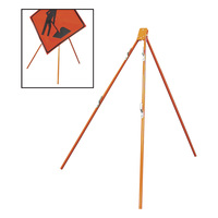 Dicke Tripod for Rigid and Roll-Up Signs, Model# T55