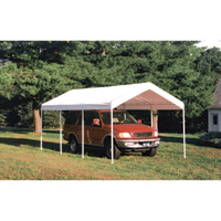 ShelterLogic Super Max 2-in-1 Outdoor Canopy Tent & Enclosure Kit — 20Ft.L x 10Ft.W x 9Ft.6in.H, 2in. 4-Rib Frame, White, Model# 23572