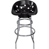 K & M Manufacturing Tractor Seat Shop Stool — Black, Model# 9765