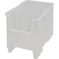 Quantum Storage Clear Hopper Storage Bins — 4 bins: 17 1/2in.L x 10 7/8in.W x 12 1/2in.H ea., Model# QGH600CL