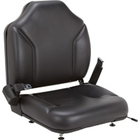 Direct-Fit Seat for Clark Forklifts – Black, Model# 8055