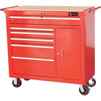Excel 41in. Roller Cabinet — 6 Drawers, Model# TBR4108-RED
