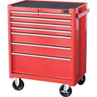 Excel Roller Cabinet — 27in., 7 Drawers, Model# TB2050BBSB