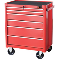 Excel Roller Cabinet — 27in., 6 Drawers, Model# TB2070BBSB