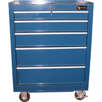 Excel Roller Cabinet — 27in., 5 Drawers, Model# TB2605X