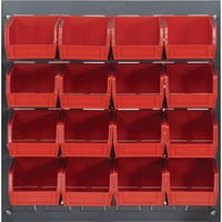 Quantum Storage Louvered Panel with 16 Bins — 18in.L x 19in.H Unit Size, Item# QlP-3619-220-16