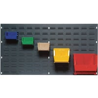 Quantum Storage Louvered Panel with 18 Bins — 36in.L x 19in.H Unit Size, Model# QIP-3619-18