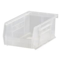 Quantum Storage Stack and Hang Bin — 7 3/8in. x 4 1/8in. x 3in., Clear, Carton of 24, Model# QUS220CL
