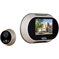 Sunforce Peephole Door Viewer with Camera, Model# 69034