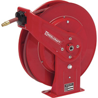 Reelcraft Air/Water Hose Reel — With 3/8in. x 50ft. PVC Hose, Max. 300 PSI, Model# 7650 OLP