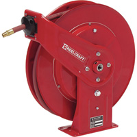 Reelcraft Air/Water Hose Reel — With 3/8in. x 70ft. PVC Hose, Max. 300 PSI, Model# 7670 OLP