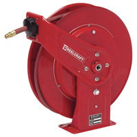 Reelcraft Air/Water Hose Reel — With 1/2in. x 50ft. PVC Hose, Max. 300 PSI, Model# 7850 OLP