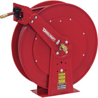 Reelcraft Air/Water Hose Reel — With 1/2in. x 75ft. PVC Hose, Max. 300 PSI, Model# 82075 OLP