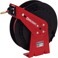 Reeltek Auto-Rewind Air/Water Hose Reel — With 3/8in. x 50ft. PVC Hose, Max. 300 PSI, Model# RT650-OLP