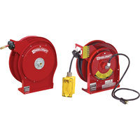 Reelcraft Power and Hose Reel Combo Pack — With 3/8in. x 50ft. PVC Hose and 45ft. Outlet Power Cord, Max. 300 PSI, Model# TP5650OLP-L45451237