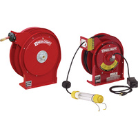Reelcraft Light and Hose Reel Combo Pack — With 3/8in. x 50ft. PVC Hose and 50ft. Cord with Fluorescent Light, Max. 300 PSI, Model# TP5650OLP-L40501622