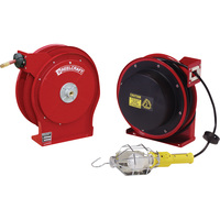 Reelcraft Light and Hose Reel Combo Pack — With 3/8in. x 50ft. PVC Hose and 50ft. Cord with Incandescent Light, Max. 300 PSI, Model# TP5650OLP-L40501631-92