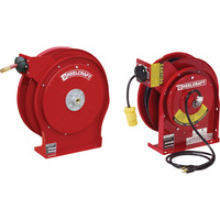 Reelcraft Power Hose Reel Combo Pack — With 3/8in. X 50ft. PVC Hose and 45ft. Outlet Power Cord, Max. 300 PSI, Model# TP5650OLP-45451233