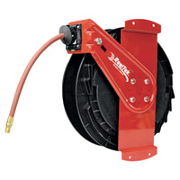 Reelcraft Air/Water Side Mount Retractable Hose Reel — With 3/8in. x 50ft. PVC Hose., Max. 300 PSI, Model# RT650-OLPSM-92