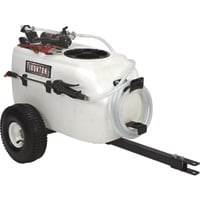 Ironton Tow-Behind Trailer Broadcast and Spot Sprayer — 13-Gallon Capacity, 1 GPM, 12 Volt DC