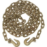 KingChain 5/16in. x 14ft. Grade 70 (G70) Transport Tow Chain with   5/16in. Clevis Grab Hooks (x2) — 4700 Lbs. Safe Work Load