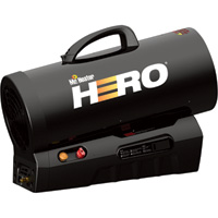 Mr. Heater Hero Cordless Forced Air Propane Heater with Quiet Burn Technology — 30,000 to 60,000 BTU, Model# MH60CLP