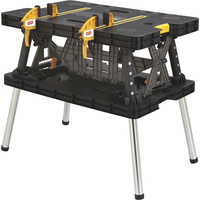 FREE SHIPPING — Keter Folding Work Table — 33 1/2in.L x 21 3/4in.W x 29 3/4in.H, Model #17182239