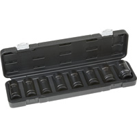 Klutch Chrome Moly Deep Impact Socket Set — 8-Pc., 3/4in. Drive, SAE