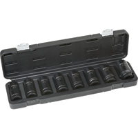 Klutch Chrome Moly Deep Impact Socket Set — 8-Pc., 3/4in. Drive, Metric