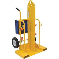 Vestil Welding Cylinder Torch Cart with Fork Pocket — 500-Lb. Capacity