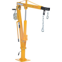 Vestil Hydraulic Pickup Truck Jib Crane With Hand Winch — 2,000 Lb. Capacity, Model# WTJ-4