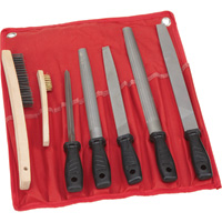Ironton 7-Pc. Steel File and Wire Brush Set