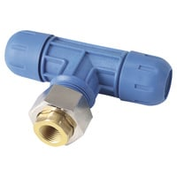 RapidAir FastPipe Fitting — 1in. Reducing Tee x 1/2in. Female NPT, Model# F2009