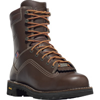 FREE SHIPPING — Danner Quarry 8in. Waterproof Gore-Tex Work Boots — Brown, Size 7, Model# 173057D